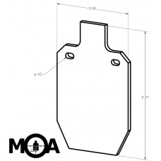 "33% IPSC Metric 1/4"" AR400 Steel Pistol Target: Two Hole"