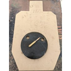 """1 Inch Thick AR500 Steel 10"""" Gong"""