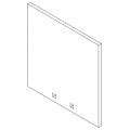 "1"" Square AR500 Steel Target (8-12"") Flat Rate Eligible"