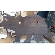 Triceratops Silhouette Steel Target